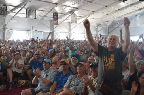 Crowd in Blues Tent at Jazz Fest 2016 // Photo by Wesley Hodges